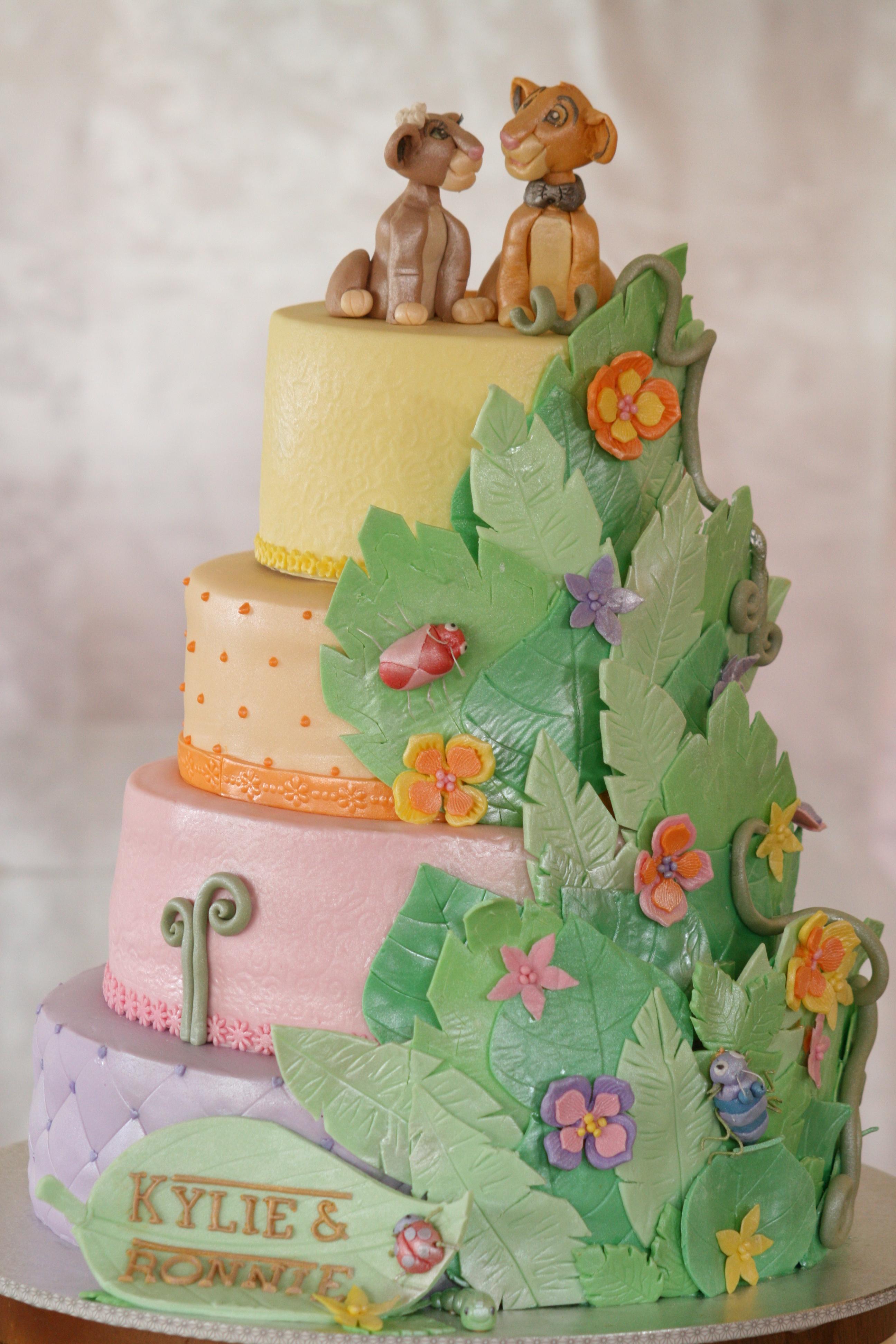 Lion King Themed Wedding Cake NIBBLE BITE - Lion King Wedding Cake